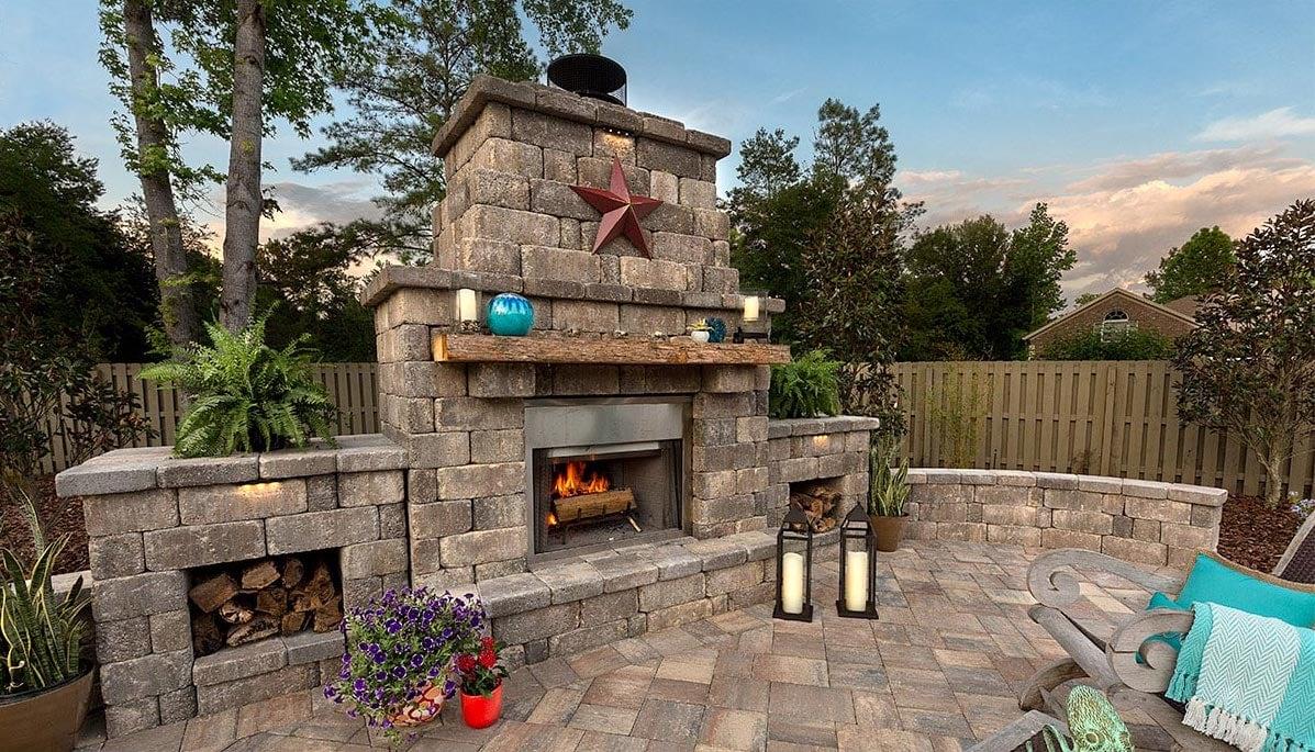Destin Outdoor Fireplace Pavers
