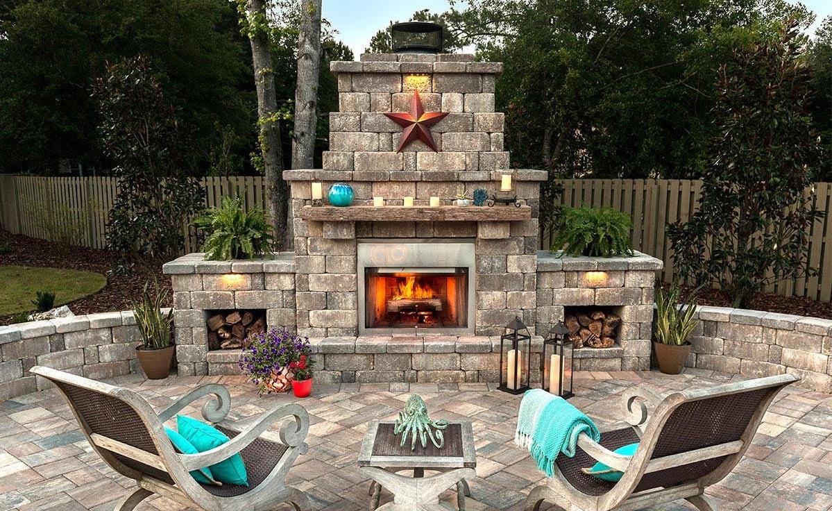 Destin Outdoor Stone Fireplace Pavers