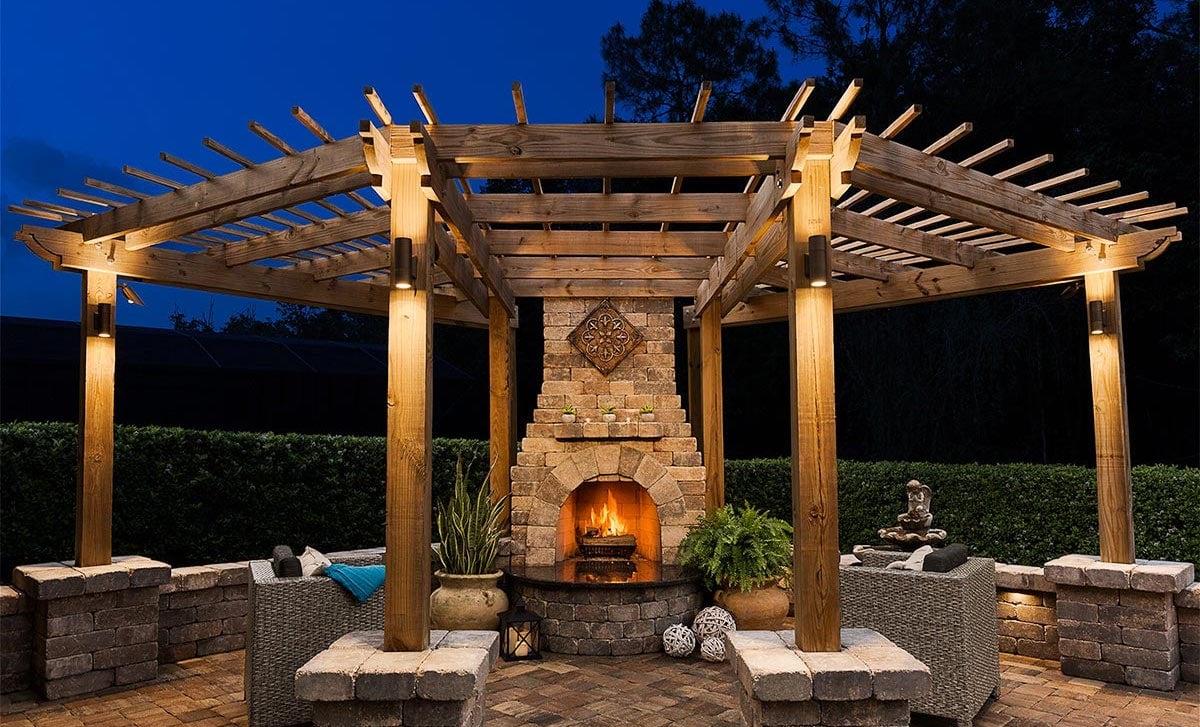 Outdoor Brick Fireplace Pavers Destin