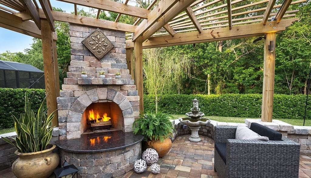 Outdoor Fireplace Paver Contractor