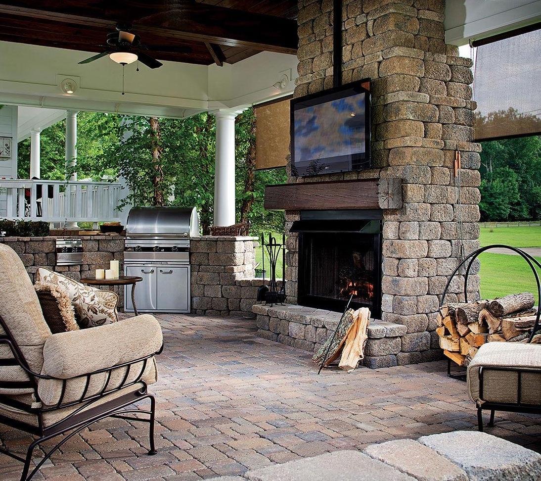 Outdoor Fireplace Pavers Destin