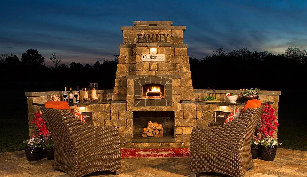 Outdoor Fireplace Pavers