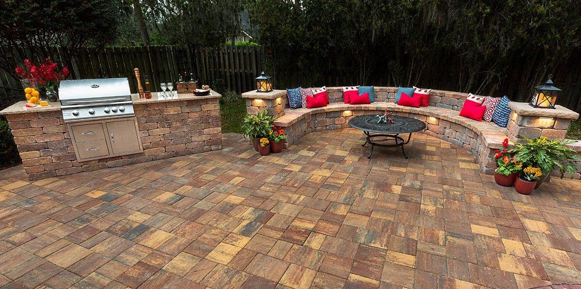 Outdoor Kitchen Stone Pavers