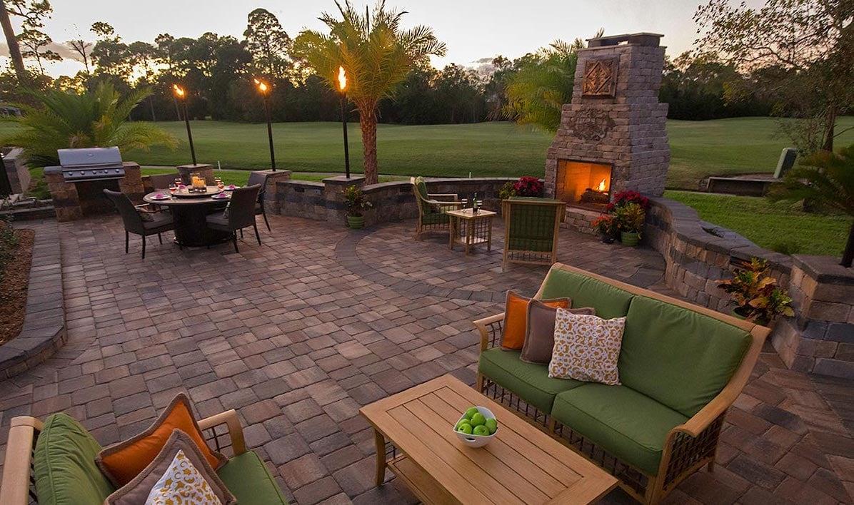 Outdoor Stone Fireplace Pavers Destin