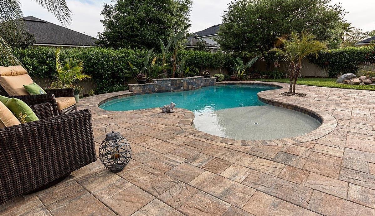 Residential Brick Pool Pavers