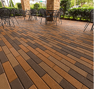 Plank Pavers Taupe-Tan-DarkBrown